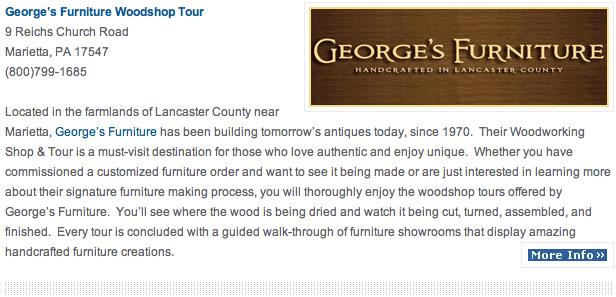 George's Furniture woodshop tour