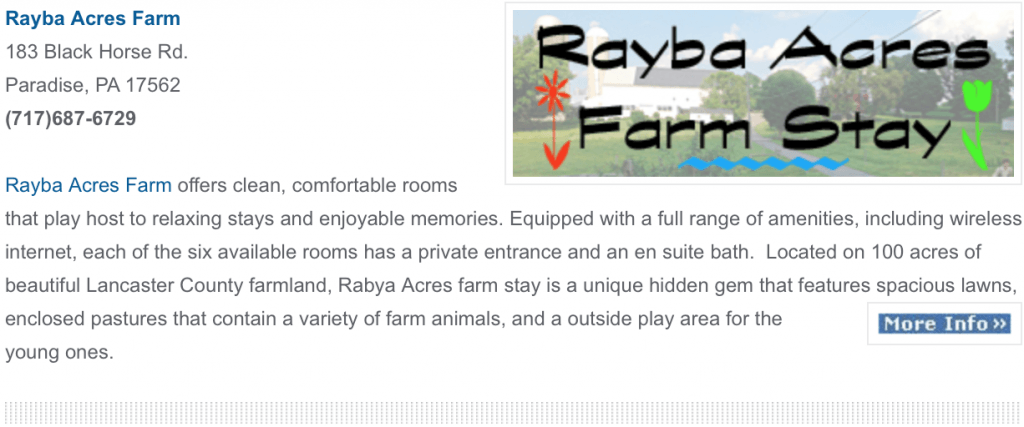 Rayba Acres Farm Stay guest rooms