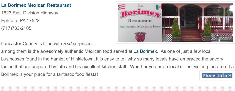 La Borimex Restaurant Ephrata pa