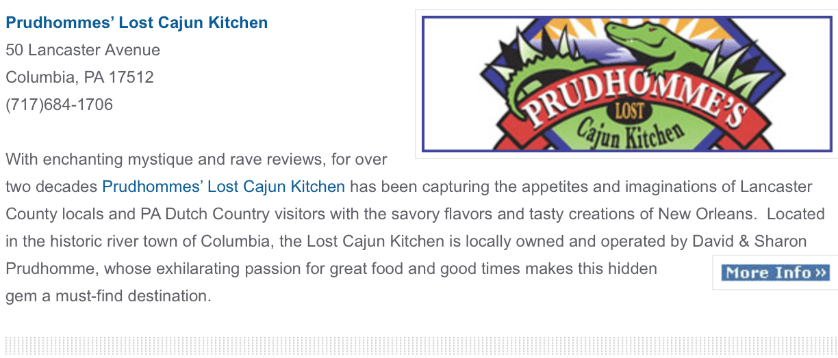 Prudhomme's Lost Cajun Kitchen