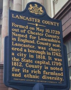Did You Know: Lancaster County PA, Local Dutch Country