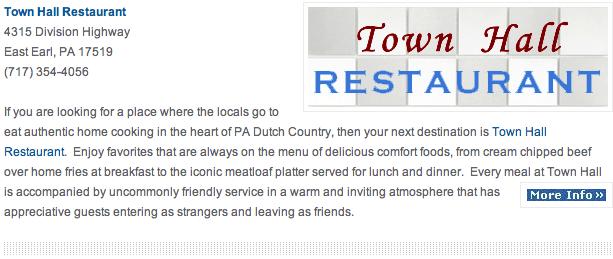 Town Hall Restaurant