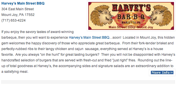 Harverys BBQ Best Burgers