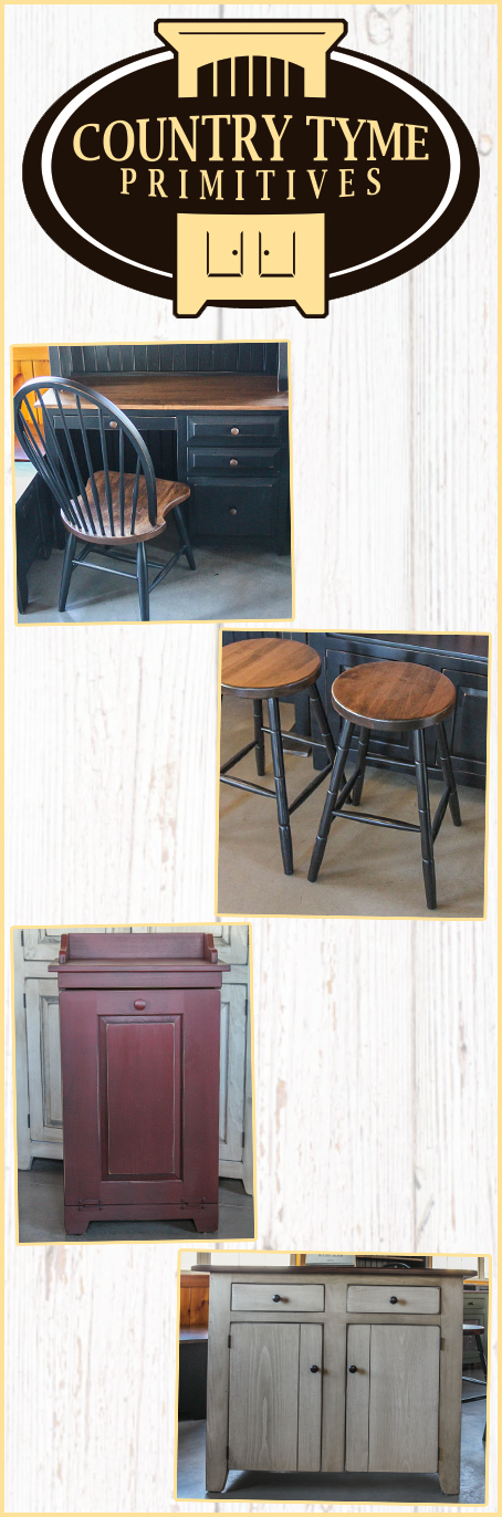 Country Tyme Primitives Furniture, Country Primitive Furniture Pennsylvania