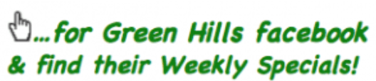 Green Hills Discount Grocery Weekly Specials