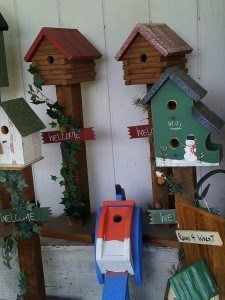 Bird in Hand Bake Shop bird houses