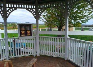 Feeding-Gazebo-Country-View-PA-B&B-Farm-Stay