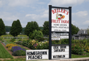 Beiler's Fruit Farm New Holland Lancaster County PA Locally Owned Family Operated Homegrown Fruits Vegetables Field to table produce Reallancastercounty
