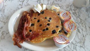 White Horse Luncheonette blueberry hotcakes