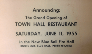 town hall opening