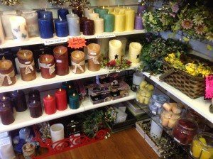 Creative Home Shoppe candle display