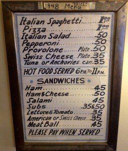 Valentino's Cafe lancaster pa menu