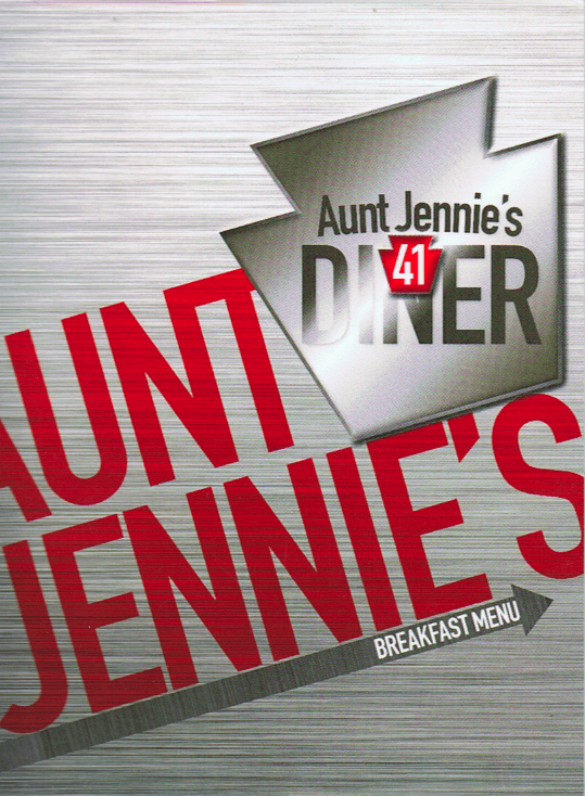 Aunt Jennie's 41 Diner breakfast menu