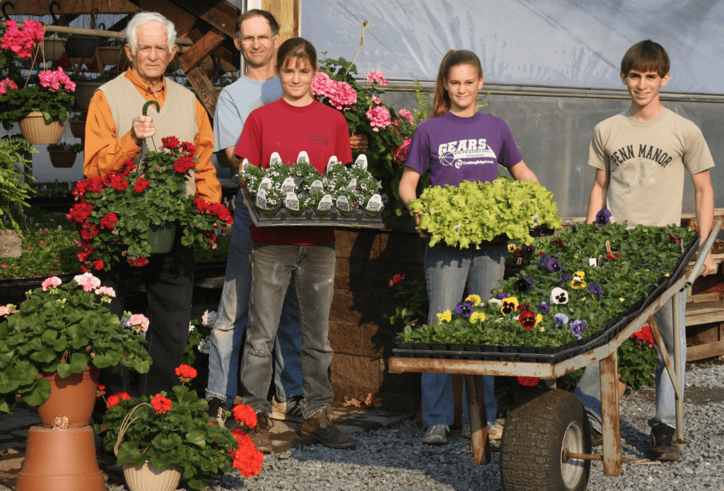Funk's Riverview Greenhouses Washington Boro PA lancaster County flowers gardens our story