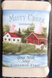 Misty Creek Goat Dairy Leola PA Whole Goat Milk Goat Milk Soap Raw Goat Cheese Lancaster Pennsylvania Reallancastercounty Artisanal Goat Cheese Lotions Plain, Smoked, Wine-n-Goat, and Garlic & Chives. Other goat cheese Colby Monterey Hot Jack (Habanero) Tomme De Conestoga Misty Lovely Mist O' Bleu Kidchego Midnight Dream liquid bottle soap moisturizing bars