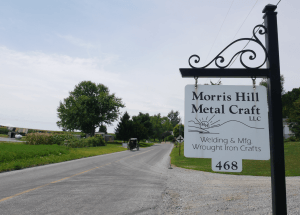 Morris Hill Metal Craft LLC Locally Owned Family Operated wrought iron furniture crafts Baker's Racks coffee tables hall trees magazine tables wood selections home accents Quarryville PA Lancaster County Pennsylvania
