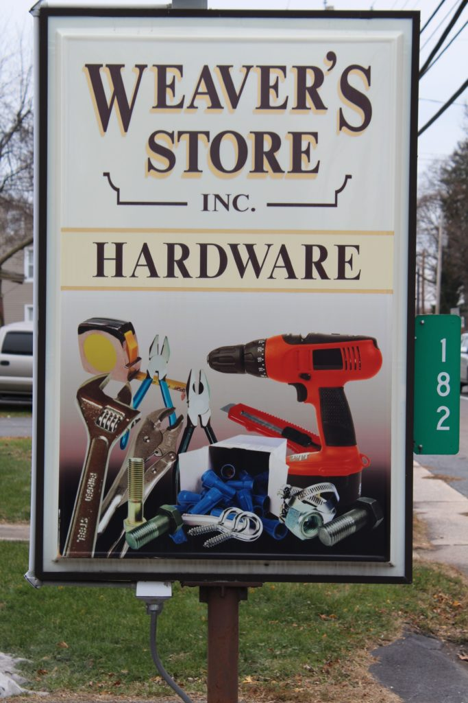 Weaver's Hardware Store Hardware Selections Hand Tools Power Equipment Electrical Plumbing Houseware Garden Garage Pet Varieties Mulch Sand Soil Stone Paints Stains Sanding Supplies Work Apparel Accessories Locally Owned Locally Operated Leola PA Lancaster County Pennsylvania Reallancastercounty