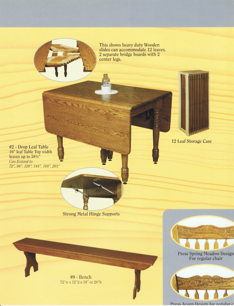 Hornings Chair Shop Ephrata PA Custom Built Furniture Brochure 3