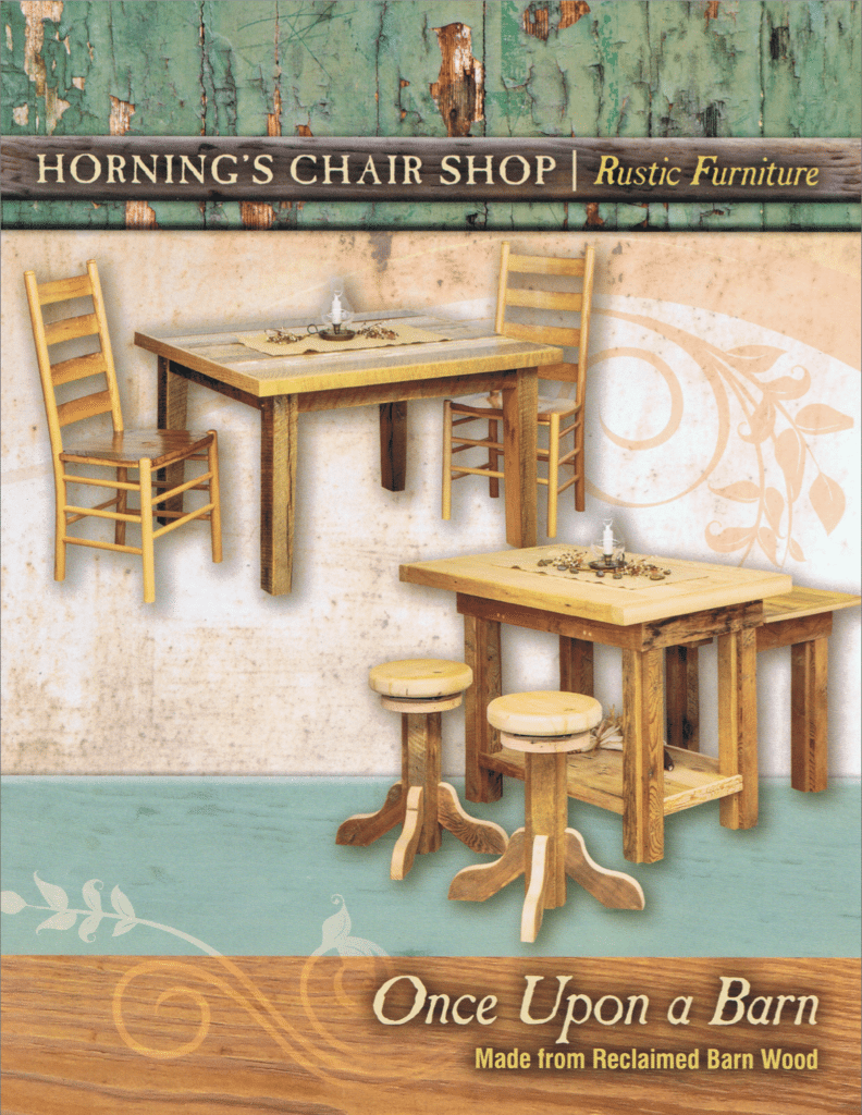 Horning's Chair Shop Rustic Furniture Brochure 1