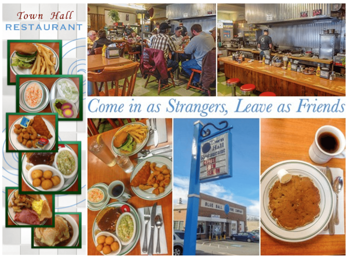 Town Hall Restaurant near New Holland PA…enjoy Lancaster County Comfort Foods