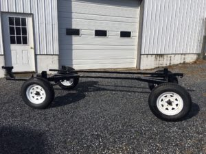 #437 NEW PIONEER 3 TON GEAR Hydraulic brakes, Torsion axels, Raised steel tongue w/ spring lift kit. Build your own Ride Wagon! $2700
