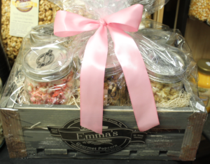 Emma's Gourmet Popcorn hidden gem Lancaster County PA Pennsylvania Locally Owned Family Operated New Holland PA Dutch Country chocolate peanut butter sweet cheddar caramel sweet & salty bulk sizes bags fundraisers fund-raising support