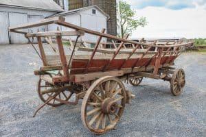 #519 Wooden Wheel Haywagon 16' Long Wheels- Fair Condition $800.00