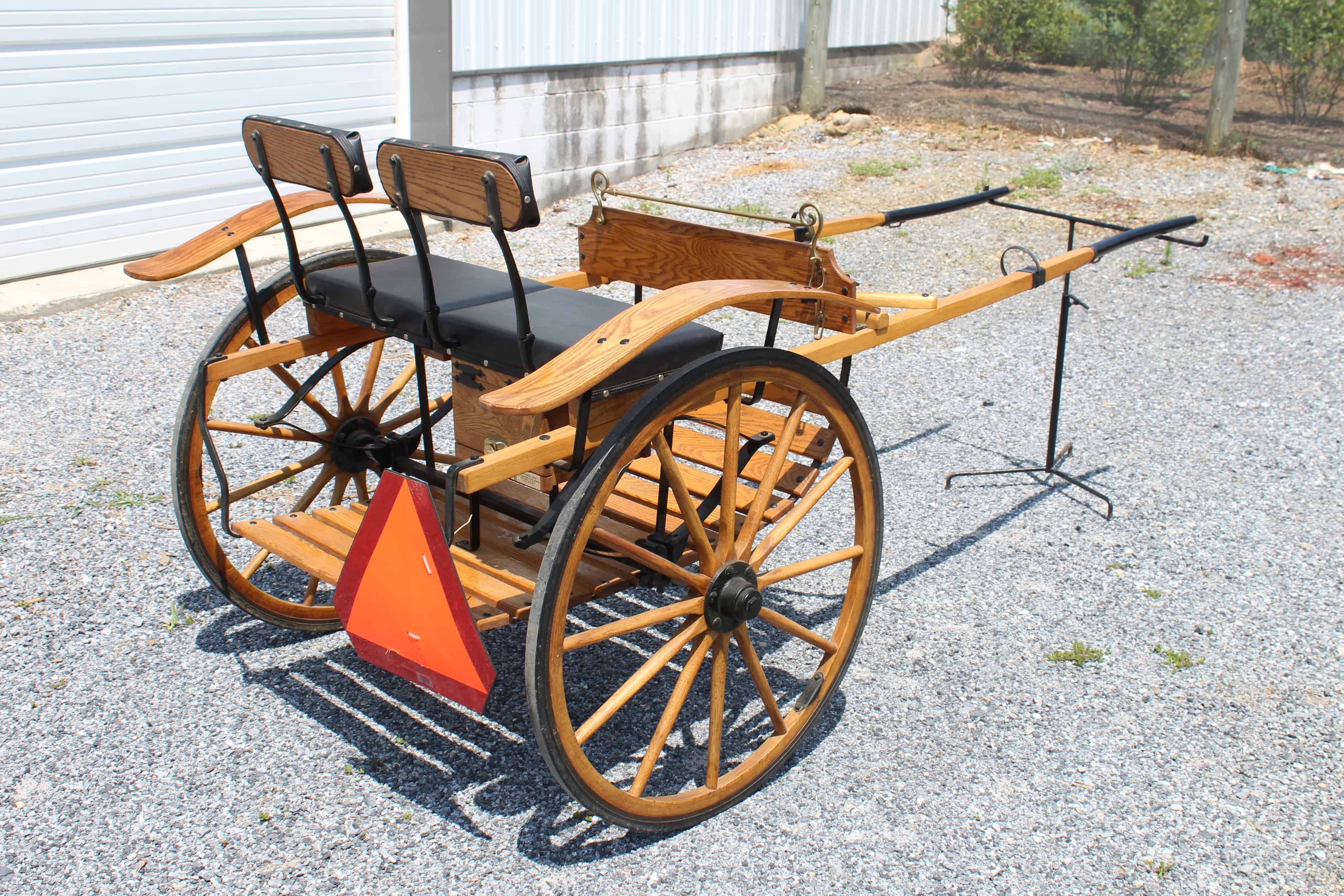 "#536 Pony Size Meadowbrook Cart- Used for 10 Hand Pony- Wooden Wheels- 30"" Wheels- 54"" Shaft- Like New Condition $995.00 A"