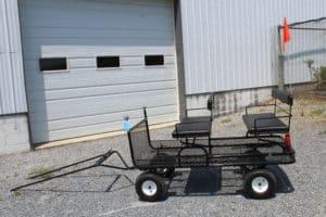 "#538 New 34"" x 64"" Metal Pony Wagon- 2 Seats- Brakes Shaft- Rear Seat is Removable- 14"" Heavy Duty Wheels $950.00 A"