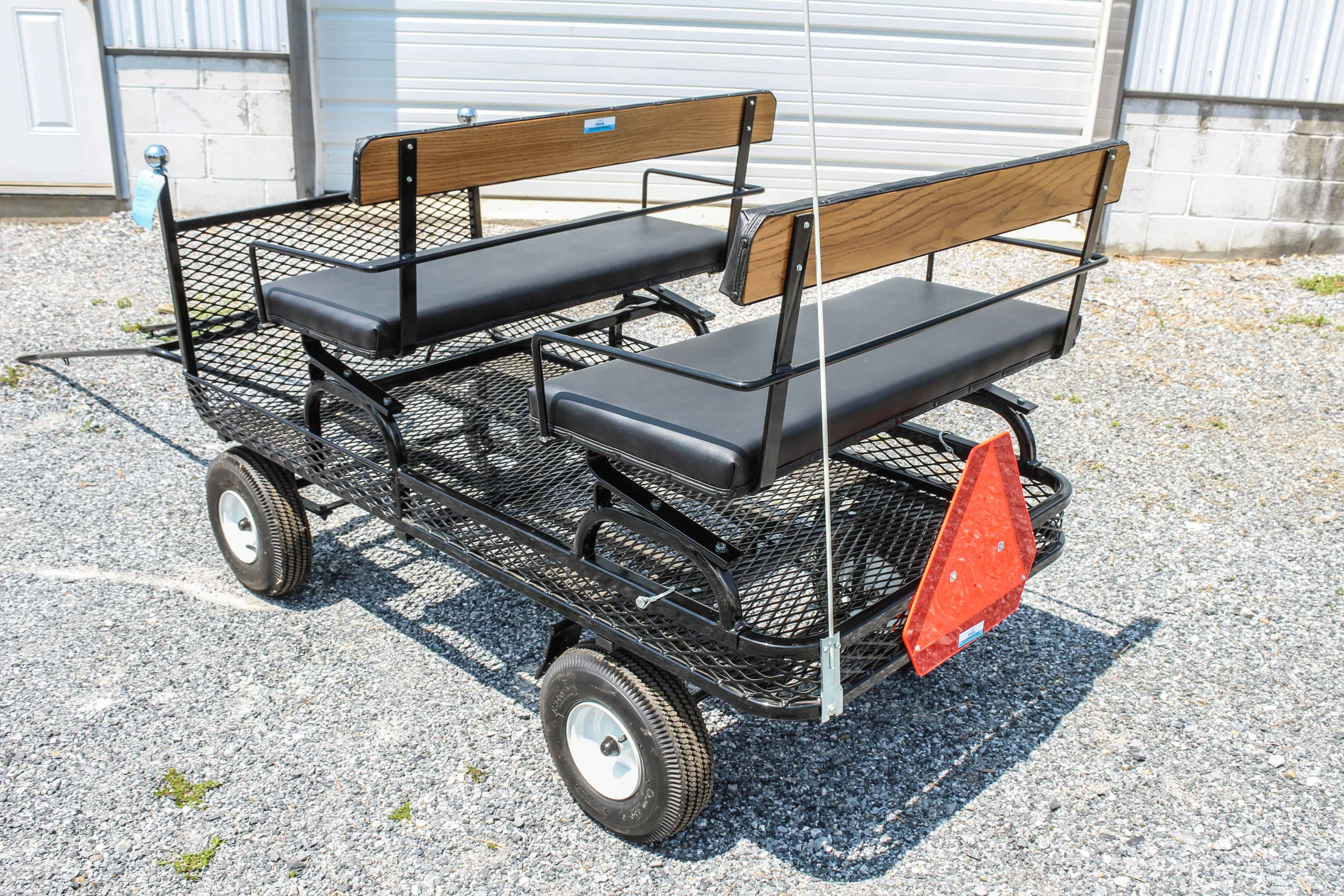 "#538 New 34"" x 64"" Metal Pony Wagon- 2 Seats- Brakes Shaft- Rear Seat is Removable- 14"" Heavy Duty Wheels $950.00 A"
