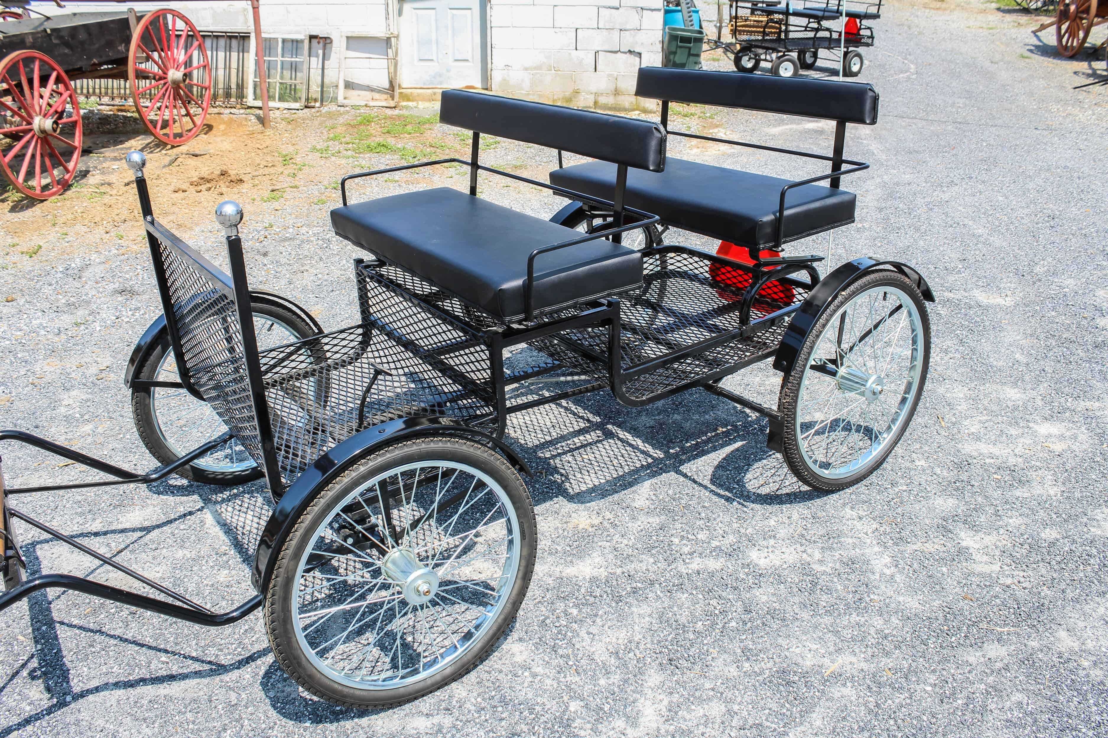 "#539 New Pony Size Cruiser- 2 Seats- Brakes- 24"" Front Wheels- 26"" Rear Wheels- Cut Under Shaft 65"" Long $1450.00 A"