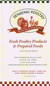 Sensenig Poultry Farm Fresh Turkey Locally Owned Family Operated Lititz PA Lancaster County Pennsylvania Specialty Foods Prepared Foods Store Whoopie Pies fresh and frozen meats casseroles frozen dishes bbq bar-b-que delicatessen market fare varieties baked goods gourmet snacks canned preserves