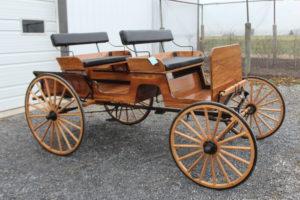 #556 Spring Wagon Natural Finish 2 Seats Cut Under Shaft Like New $3,600.00