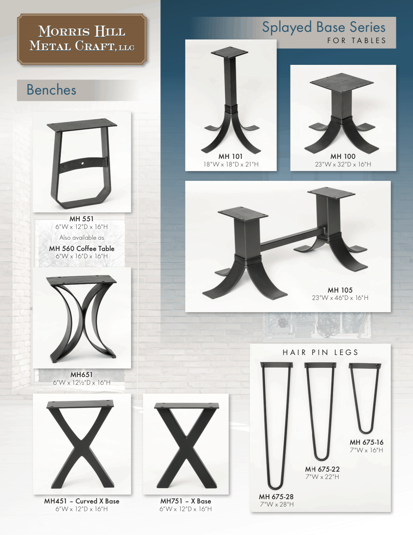 Morris Hill Metal Craft Table Bases 2